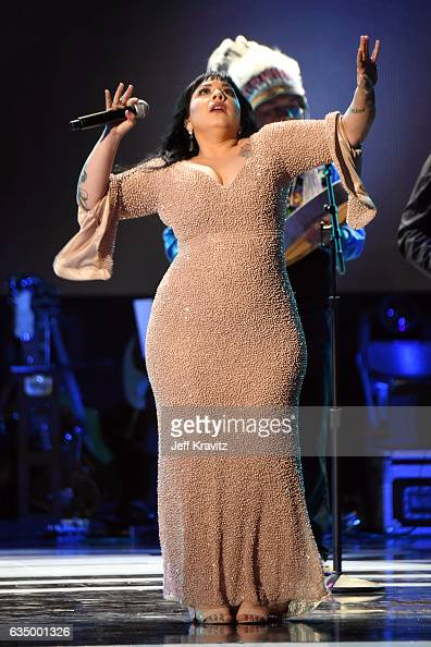 Northern Cree performs onstage onstage at the Premiere Ceremony during the 59th GRAMMY Awards at Microsoft Theater on February 12 2017 in Los Angeles...
