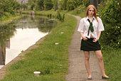 Northern English school girl