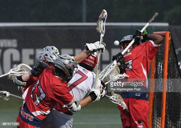 Northern goalie Darryl Walker makes a stop during the final minutes of their win over Glenelg during the Maryland State 3A/2A lacrosse championship...