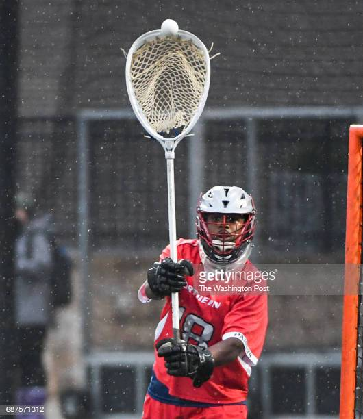 Northern goalie Darryl Walker passes the ball after a save against Glenelg during the Maryland State 3A/2A lacrosse championship game on May 23 2017...