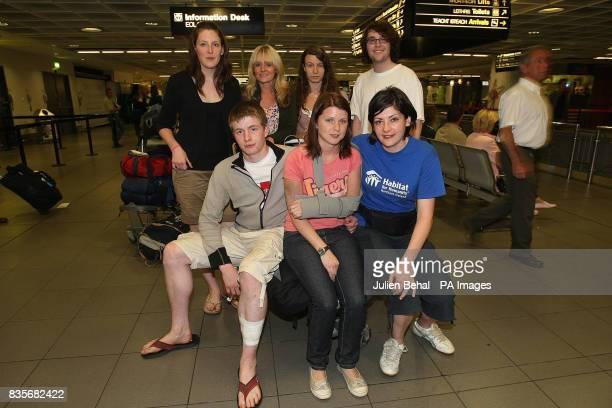 Northern Ireland charity workers Daniel Crossey Ursala Daly Shauna McDonald Clare Gileece Carolyn Hudson Jeanette Loughlin and Patrick Tunney pose...