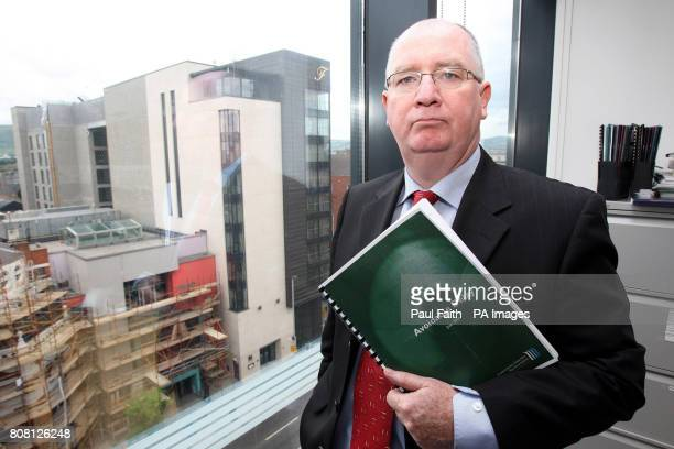 Northern Ireland Chief Inspector of Criminal Justice Dr Michael Maguire with his report that found juveniles facing criminal charges in Northern...