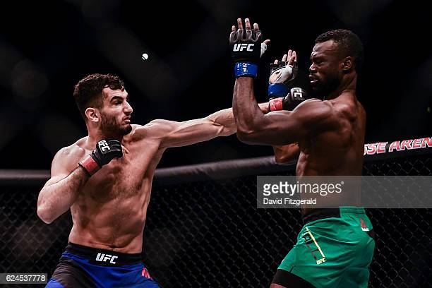 Northern Ireland Ireland 19 November 2016 Gegard Mousasi left in action against Uriah Hall during their Middleweight bout at UFC Fight Night 99 in...