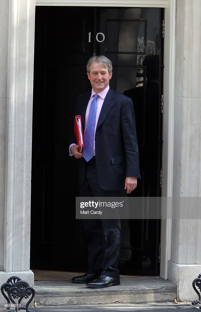 Northern Ireland Secretary Owen Paterson arrives for the first cabinet meeting of the new coalition government at Downing Street on May 13 2010 in...