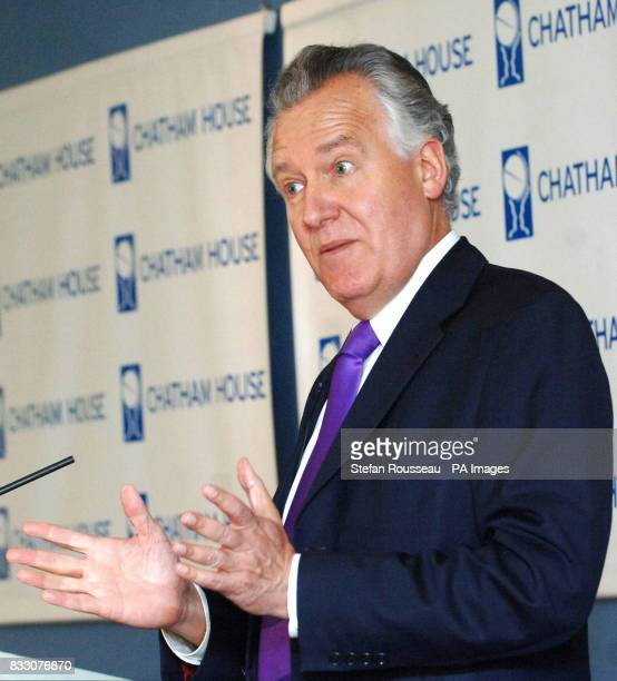 Northern Ireland Secretary Peter Hain delivers a speech on peacemaking at Chatham House in London entitled 'Peacemaking in Northern Ireland A model...