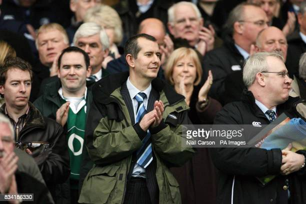 Northern Ireland Sports Minister Edwin Poots of the DUP at the RBS Six nations match between Ireland and Scotland at Croke park in Dublin