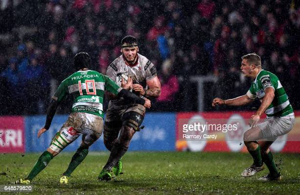Northern Ireland United Kingdom 3 March 2017 Marcell Coetzee of Ulster in action against Ian McKinley of Benetton Treviso during the Guinness PRO12...