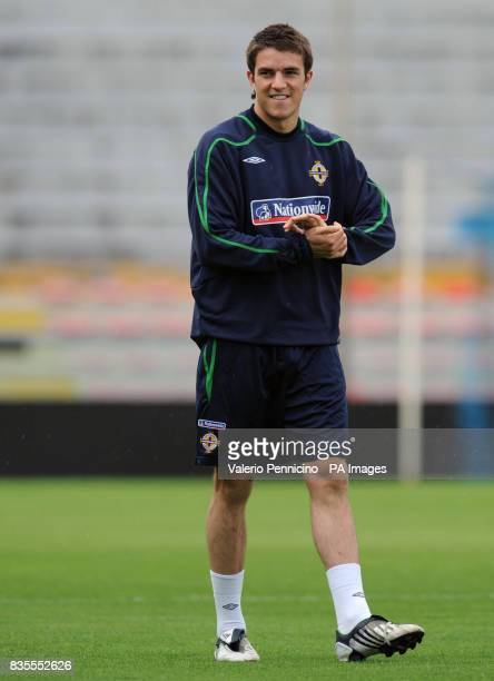 Northern Ireland's Andrew Little during a training session at the Arena Garibaldi Stadium Pisa Italy