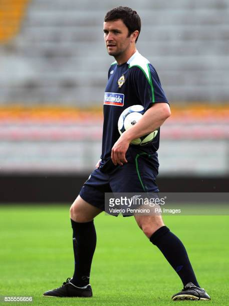 Northern Ireland's David Healey during a training session at the Arena Garibaldi Stadium Pisa Italy