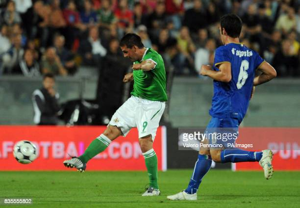 Northern Ireland's David Healy in action during the International Friendly at the Arena Garibaldi Stadium Pisa Italy