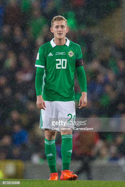 Northern Ireland's George Saville during the FIFA 2018 World Cup Qualifier PlayOff First Leg between Northern Ireland and Switzerland at Windsor Park...