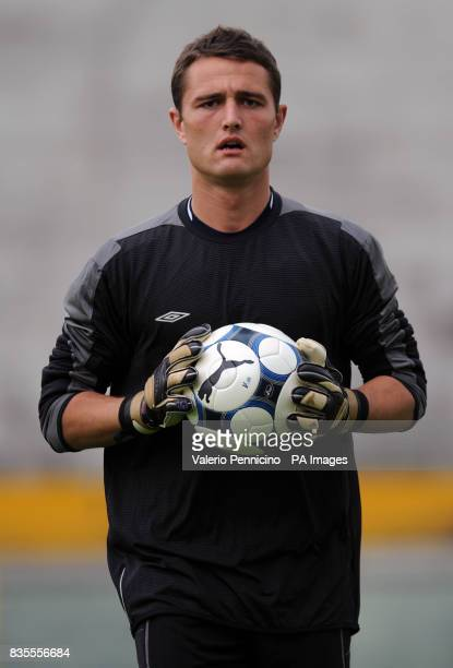 Northern Ireland's Jonathan Tuffey during a training session at the Arena Garibaldi Stadium Pisa Italy