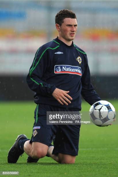 Northern Ireland's Martin Donnelly during a training session at the Arena Garibaldi Stadium Pisa Italy