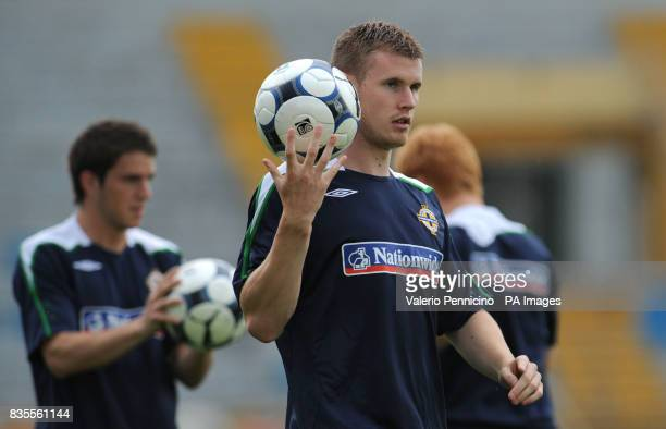 Northern Ireland's Michael O'Connor during a training session at the Arena Garibaldi Stadium Pisa Italy Picture date Saturday June 6 2009 See PA...