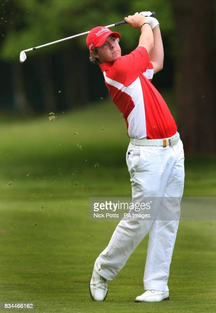 Northern Ireland's Rory McIlroy plays onto the 18th green during the BMW PGA Championship at Wentworth Golf Club Surrey