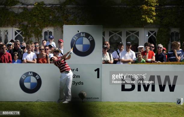 Northern Ireland's Rory McIlroy tees off the 1st hole during Round 4 of the BMW PGA Championship at Wentworth Golf Club Surrey