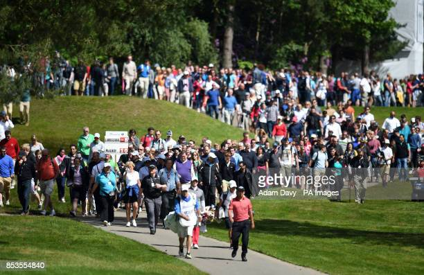 Northern Ireland's Rory McIlroy walks down to the 12th fairway during day four of the BMW PGA Championships at the Wentworth Club Surrey