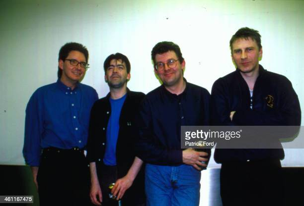 Northern Irish band Stiff Little Fingers in a posed portrait 1999