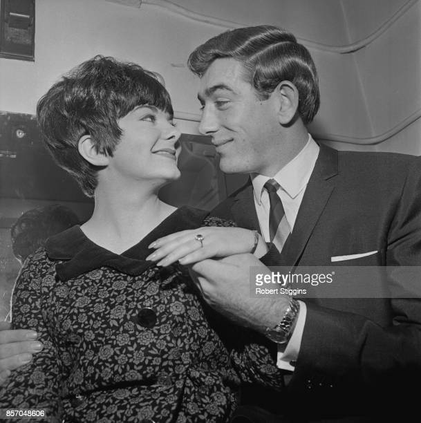 Northern Irish football player Pat Jennings of Tottenham Hotspur FC proposes to Eleanor Toner vocalist of the 'Hilton Showband' 25th October 1965