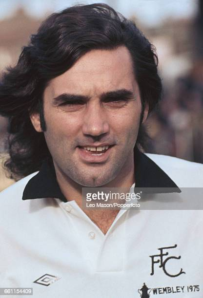 Northern Irish footballer and player with Fulham FC George Best posed wearing a Fulham shirt in 1976