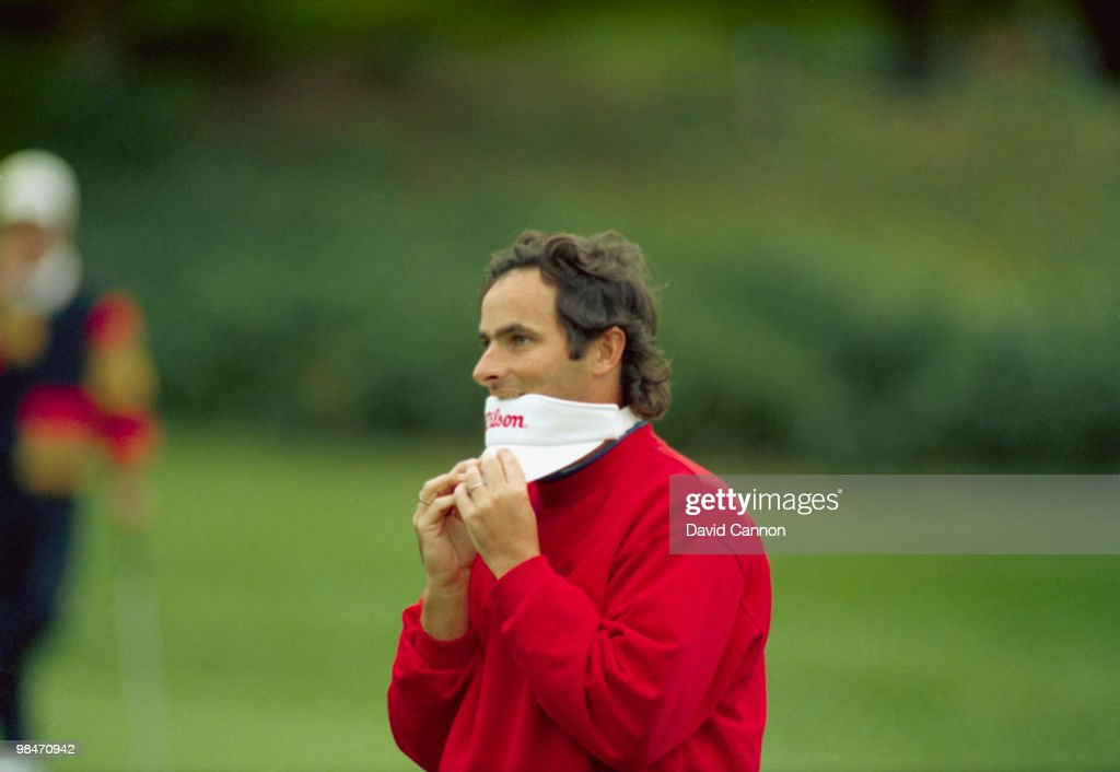 Northern Irish golfer David Feherty competes in the US Open at the Pebble Beach Golf Links in Pebble Beach California 1992