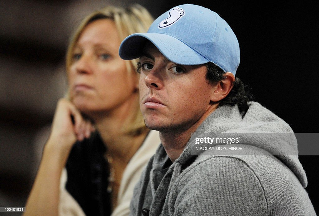Northern Irish golfer Rory McIlroy looks as he attends the WTA tennis Tournament of Champions final match in Sofia on November 4, 2012. AFP PHOTO / NIKOLAY DOYCHINOV