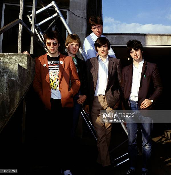Northern Irish punkpop group The Undertones Guildford Surrey 1981 Left to right guitarist Damian O'Neill drummer Billy Doherty bassist Michael...