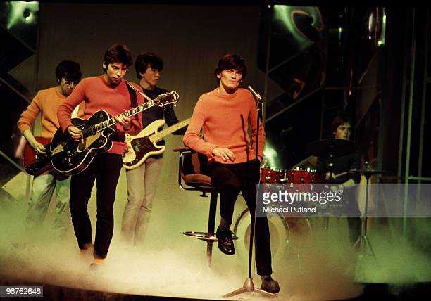Northern Irish punkpop group The Undertones performing on the BBC TV show 'Top Of The Pops' circa 1980 Left to right John O'Neill Damian O'Neill...
