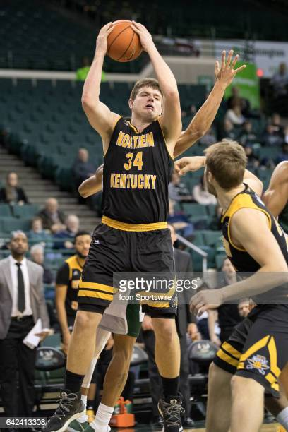 Northern Kentucky Norse F/C Drew McDonald grabs a rebound during the second half of the men's college basketball game between the Northern Kentucky...