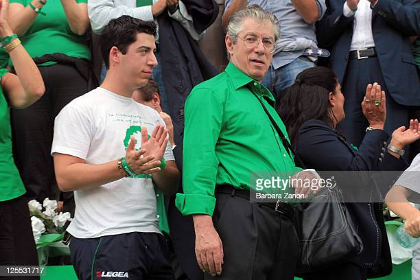 Northern League leader Umberto Bossi attend the Lega Nord Annual Party on September 18 2011 in Venice Italy The Northern League rally is held to call...