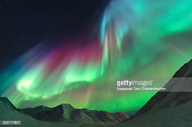 Northern Lights above Alaskan Mountain