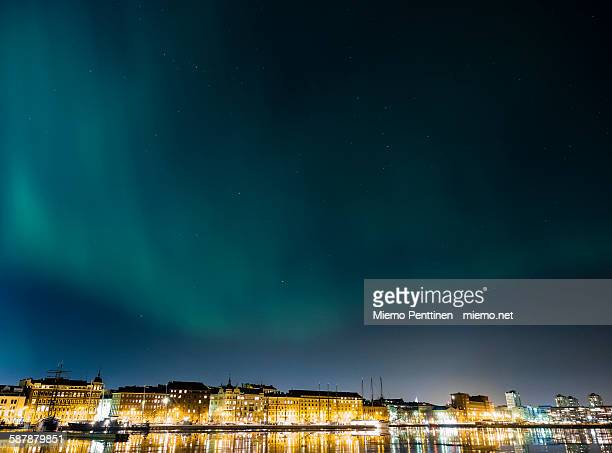 Northern lights (aurora borealis) above Helsinki