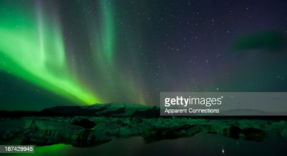 Northern Lights at Jokulsarlon : Stock Photo