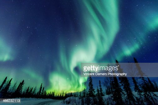 Northern Lights close to Yellowknife in the Northw