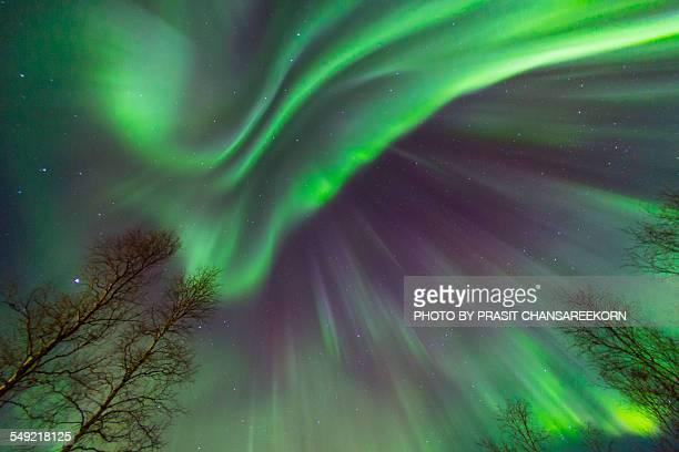 Northern lights dancing