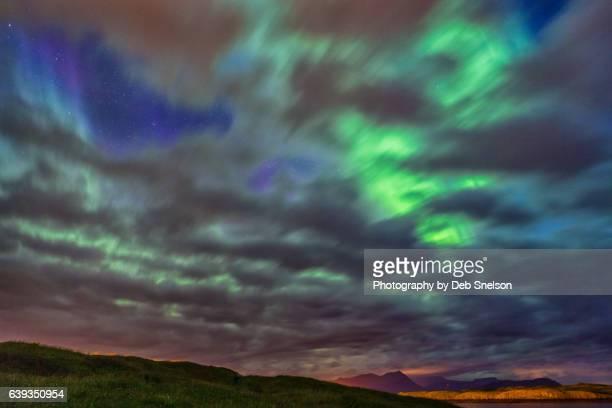 Northern Lights from Sugandisey Island in Stykkkisholmur Iceland