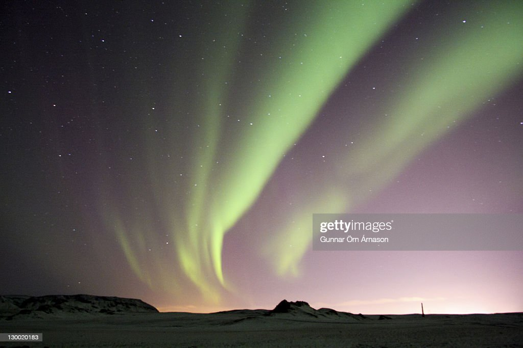 Northern lights over Iceland : Stock Photo