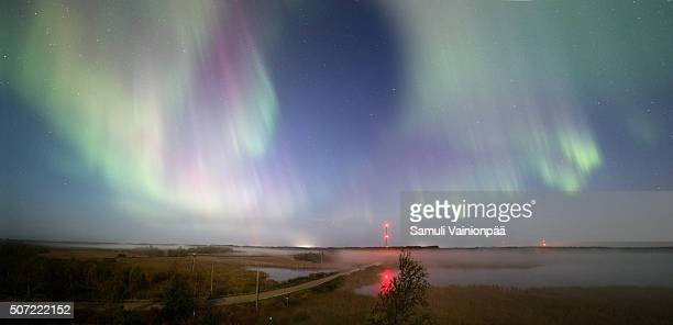 Northern Lights (Aurora Borealis) panorama