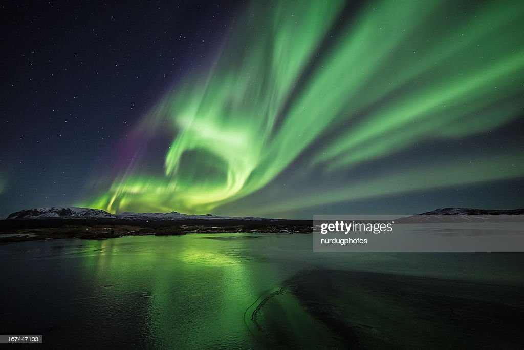 Northern lights/Aurora borealis : Stock Photo