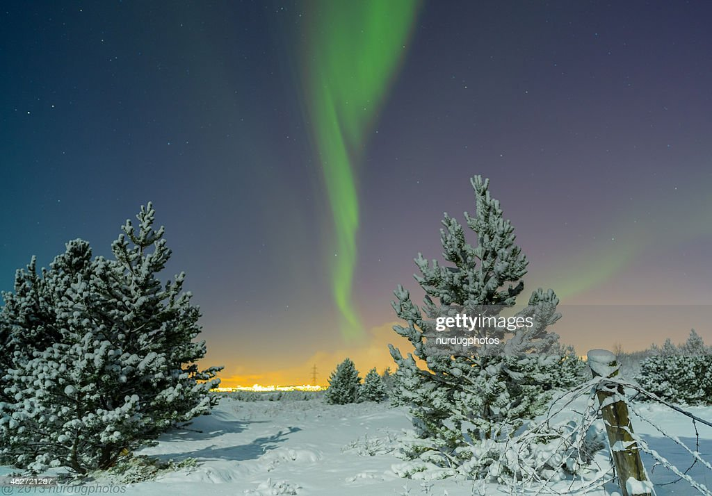 Stock photo northern lights aurora borealis