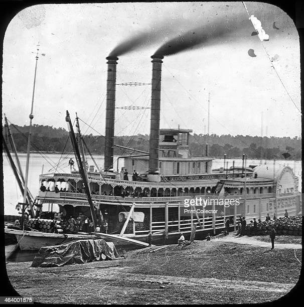 Northern Line Packet Company paddle steamer 'Lake Superior' USA c1870s The Northern Line Packet Company operated riverboat services on the...