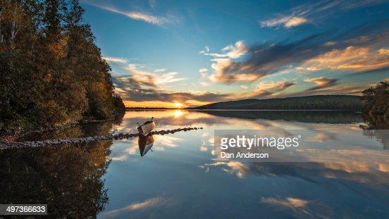Northern Minnesota Lake Sunset