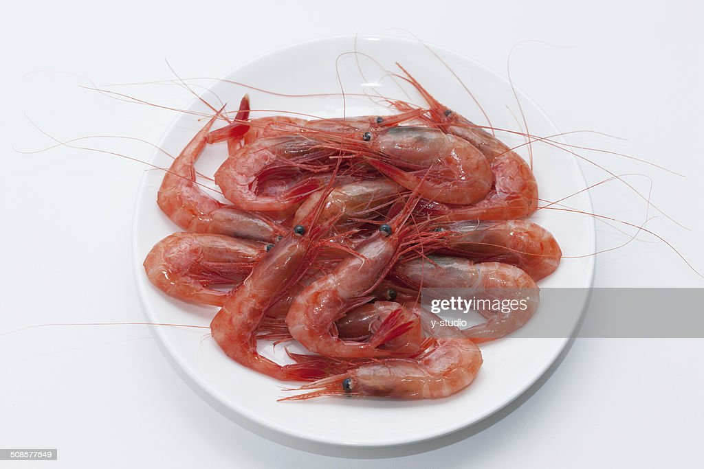 Northern crevettes raw des sashimis. : Photo