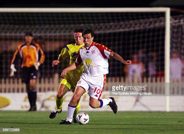 Northern Spirit's Nicola Berti in action during the National Soccer League match between Northern Spirit and Brisbane Strikers at North Sydney Oval...