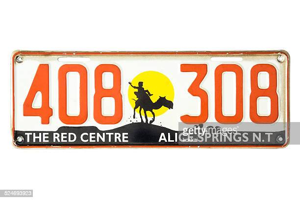 Northern Territory Red Centre Number Plate