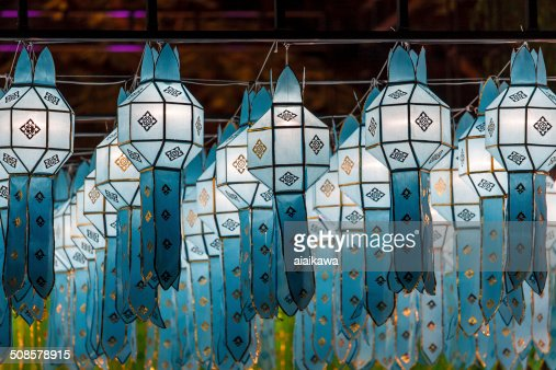 Northern Thai Style Lanterns at Loy Krathong Festival : Stock Photo