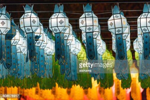 Northern Thai Style Lanterns at Loy Krathong Festival : Stockfoto