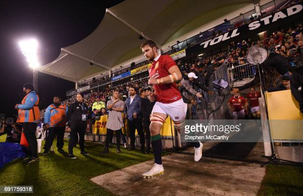 Northland New Zealand 3 June 2017 Iain Henderson of the British Irish Lions runs out prior to the match between the New Zealand Provincial Barbarians...
