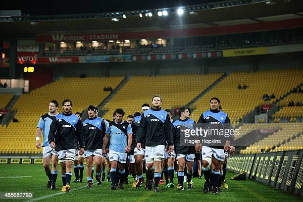 Northland players head to the changing rooms after warming up during the round three ITM Cup match between Wellington and Northland at Westpac...