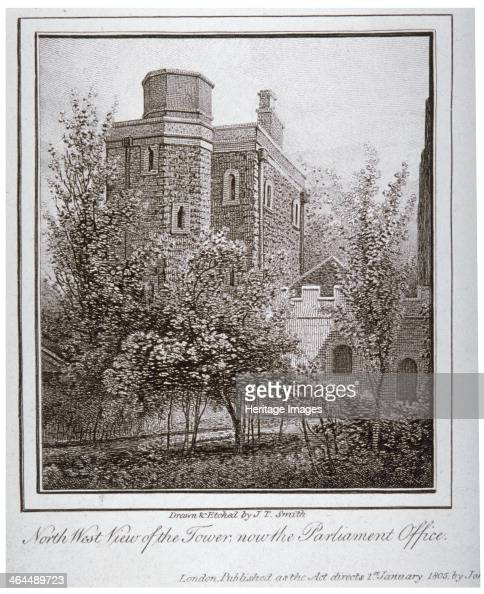Northwest view of the Jewel Tower Old Palace Yard Westminster London c1805 Together with Westminster Hall the Jewel Tower is one of the only...
